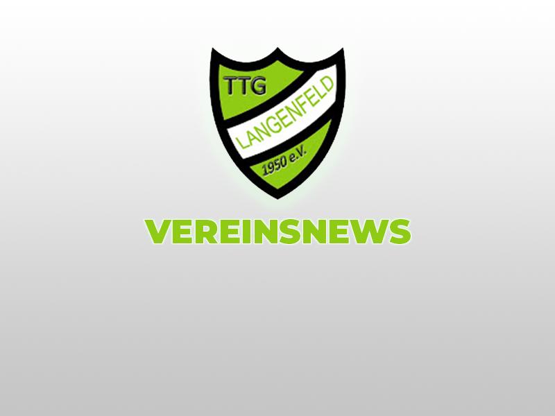 Vereinsnews TTG Langenfeld 1950 e.V.